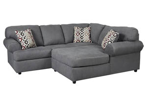 Jayceon Steel RAF Chaise Sectional,Signature Design By Ashley