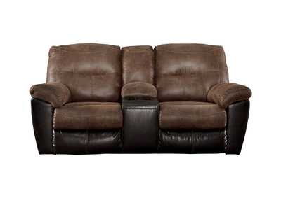 Image for Follett Coffee Double Reclining Loveseat w/Console