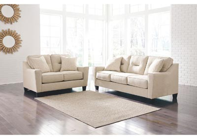 Forsan Nuvella Sand Sofa and Loveseat