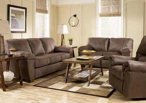 Amazon Walnut Sofa, Loveseat, & Recliner