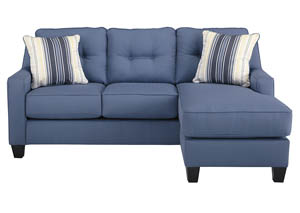 Aldie Nuvella Blue Sofa Chaise