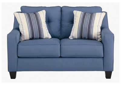 Aldie Nuvella Blue Loveseat