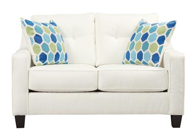 Harlem Furniture Al Nuvella White Queen Sofa Chaise Sleeper