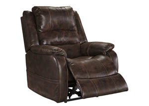 Barling Walnut Power Recliner w/Adjustable Headrest