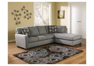 Zella Charcoal RAF Chaise Sectional