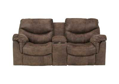 Alzena Gunsmoke Double Reclining Loveseat w/ Console