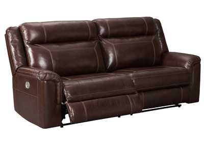 Wyline Coffee Power Reclining Sofa w/Adjustable Headrest