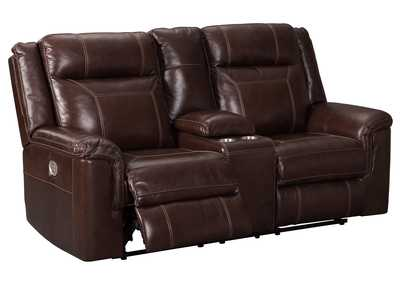 Wyline Coffee Power Reclining Loveseat