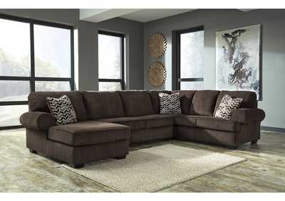Jinllingsly Chocolate Right Facing Sofa Sectional