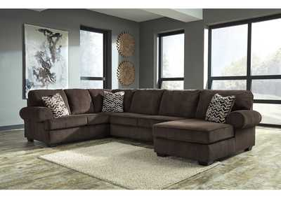 Jinllingsly Chocolate Left Facing Sofa Sectional