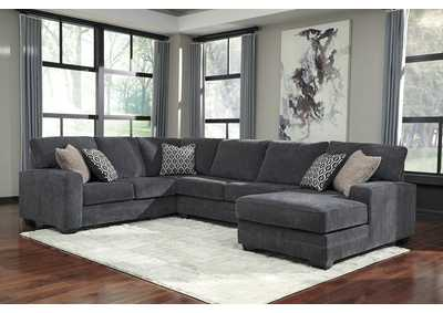 Tracling Slate RAF Chaise Sectional
