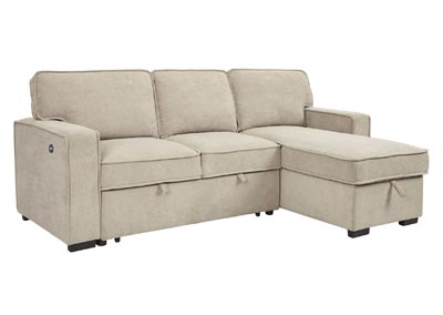 Image for Darton Cream Right-Arm Facing Chaise with Storage