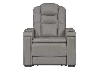 Boerna Gray Power Recliner