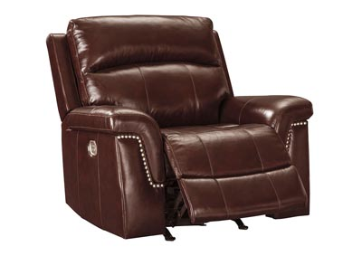Timmons Burgundy Power Recliner