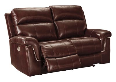 Timmons Burgundy Power Reclining Loveseat