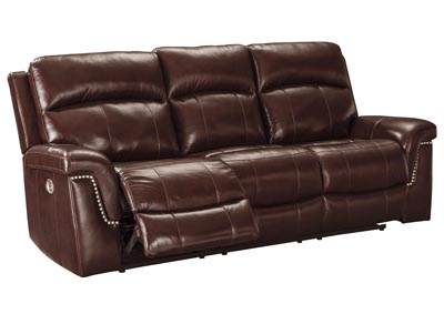 Timmons Burgundy Power Reclining Sofa