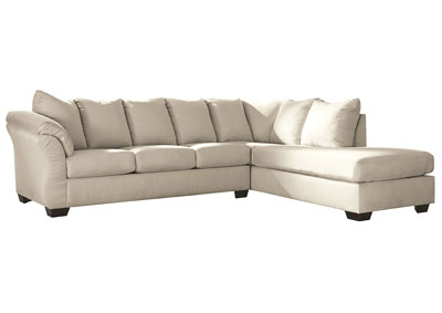 Darcy Stone Sectional w/RAF Chaise