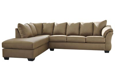Darcy Mocha Sectional w/LAF Chaise
