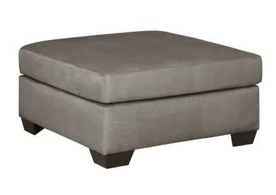 Image for Darcy Cobblestone Oversized Accent Ottoman