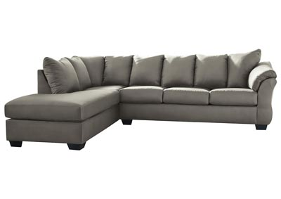 Darcy Cobblestone Sectional w/LAF Chaise
