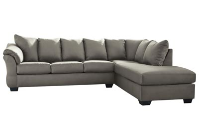 Darcy Cobblestone Sectional w/RAF Chaise
