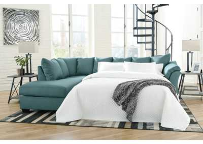 Darcy Sky Full Sofa Sleeper w/LAF Chaise