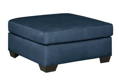 Image for Darcy Blue Oversized Accent Ottoman