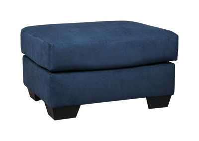 Image for Darcy Blue Ottoman