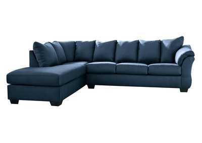Darcy Blue LAF Chaise Sectional