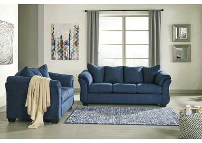 Darcy Blue Sofa & Loveseat