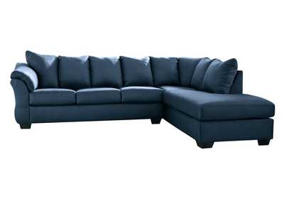 Darcy Blue RAF Chaise Sectional