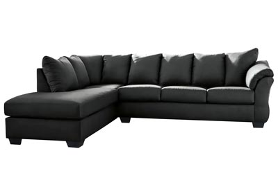 Darcy Black Sectional w/LAF Chaise