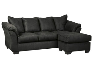 Darcy Black Sofa Chaise