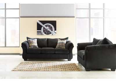 Darcy Black Sofa and Loveseat