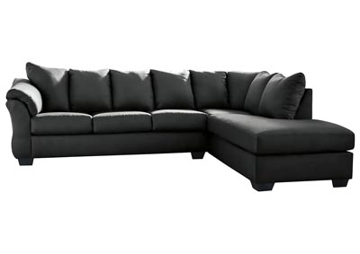 Darcy Black Sectional w/RAF Chaise