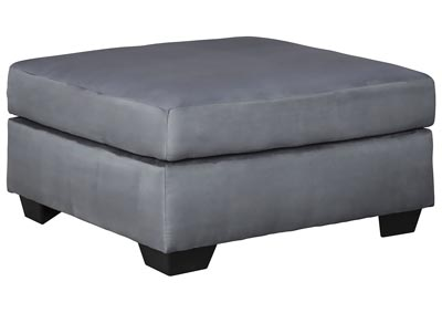 Darcy Steel Oversized Accent Ottoman