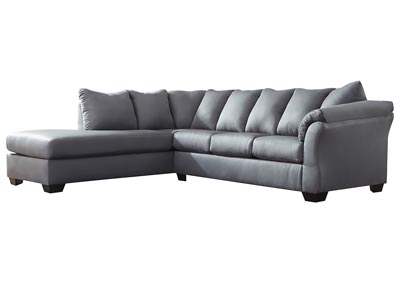 Darcy Steel Sectional w/LAF Chaise