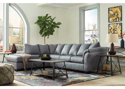 Darcy Steel LAF Chaise Sectional,Signature Design By Ashley