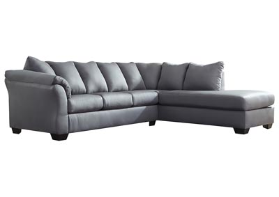 Darcy Steel Sectional w/RAF Chaise