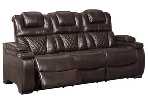 Warnerton Chocolate Power Reclining Sofa