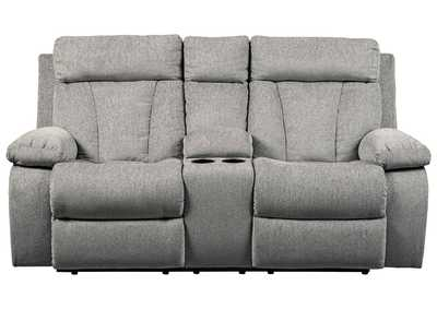 Image for Mitchiner Fog Double Reclining Loveseat w/Console