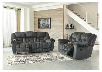 Capehorn Granite Reclining Sofa and Loveseat w/Console