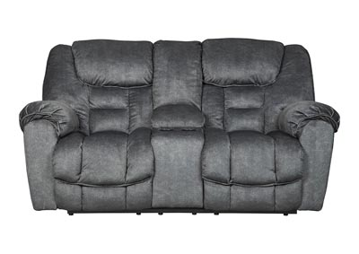 Capehorn Granite Double Reclining Loveseat w/Console