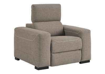 Mabton Gray Power Recliner