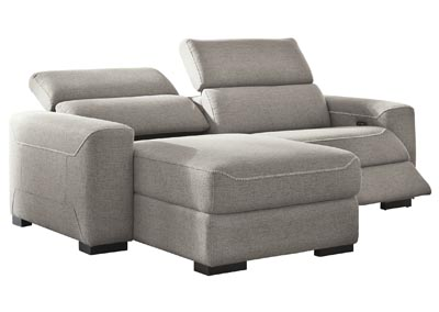 Image for Mabton Gray Left-Arm Facing Power Reclining 2 Piece Sectional Chaise