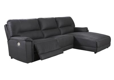 Henefer Midnight Right-Arm Facing Power Chaise