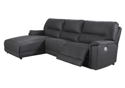 Henefer Midnight Left-Arm Facing Power Chaise