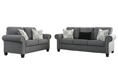 Image for Agleno Charcoal Sofa & Loveseat