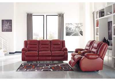 Vacherie Salsa Reclining Sofa and Loveseat w/Console