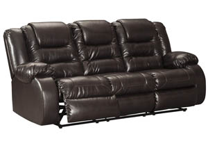 Vacherie Chocolate Reclining Sofa